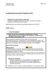 Kvalitetsredovisning för Fritidshem 2011 - Trollhättan