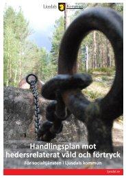Handlingsplan - Hedersrelaterat våld och förtryck - Ljusdals kommun