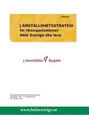 Strategin - Hela Sverige ska leva