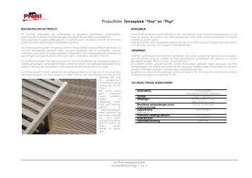Productfiche Thor & Thyr - eco-profil