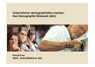Das Demographie Netzwerk (ddn) - Demografie-nordwest.de