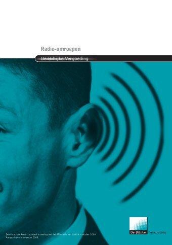 Radio-omroepen (2652 KB) - Billijke vergoeding