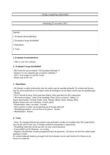 verslag vergadering november 2012 - De Kriebel