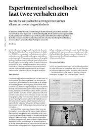 Experimenteel schoolboek laat twee verhalen zien - Stichting Leren