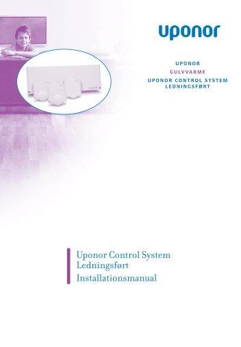 Uponor Control System Ledningsført Installationsmanual