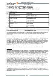 Läs verksamhetsberättelserna för 2011 - Kropps församling
