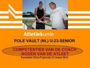 Polsstokhoogspringen voor trainers van (neo-)senioren - Atletiekunie