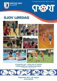 SJOV LØRDAG - Erritsø Gymnastik- & Idrætsforening