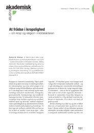 At frådse i kropslighed • Torben K. Nielsen - Akademisk kvarter ...