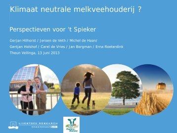 Klimaat neutrale melkveehouderij ? - MailPlus