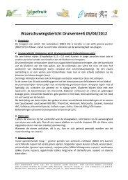 Waarschuwingsbericht Druiventeelt 05/04/2012 - BeNeVit