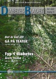 DiabetesBladet nr 1, 2012 - Göteborgs Diabetesförening
