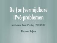 Amsterdam, World IPv6 Day (2010-06-08) Iljitsch van ... - BGP Expert