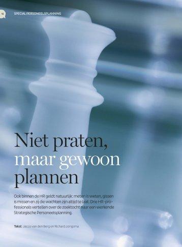 SPP, niet praten maar plannen - Van den Berg Training & Advies