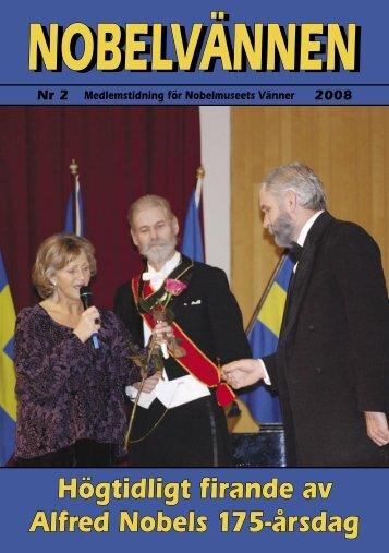 Nobelvännen 2-2008.indd - Vi är fem glada killar, som spelar ...