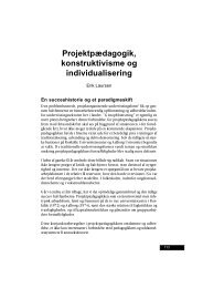 Projektpædagogik, konstruktivisme og individualisering