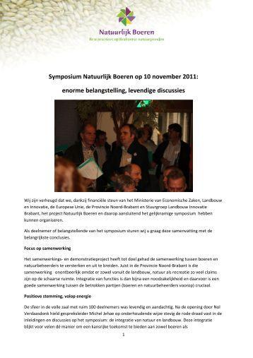 Symposium Natuurlijk Boeren op 10 november 2011 - Brabantse ...