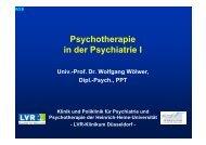 Psychotherapie - LVR-Klinikum Düsseldorf