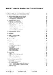 Productie, Transport en Distributie van elektrische energie - KHLim