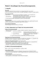 Modul I: Grundlagen des Personalmanagements - Materialbunker ...