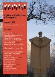 Hildebrand 3, maart 2012 - Wijkraad Zuiderhout & Vredenhof