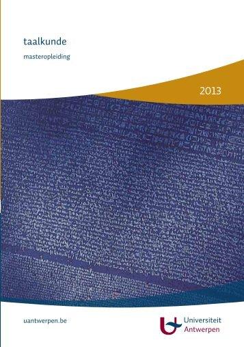 Download de brochure - Universiteit Antwerpen