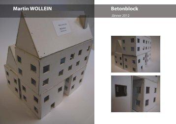 Martin WOLLEIN Betonblock - GRG23 Alterlaa