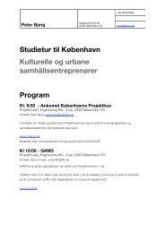 Studietur til København Kulturelle og urbane samhällsentreprenører ...