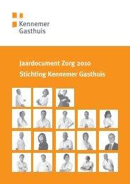 Jaardocument Zorg 2010 Stichting Kennemer Gasthuis