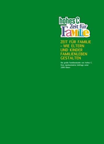 ZEit Für FamiliE – wiE EltErn UnD KinDEr FamiliEnlEbEn gEstaltEn