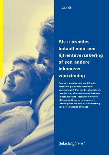 Brochure Belastingdienst lijfrenteverzekeringen - DeLijfrenteSite.nl