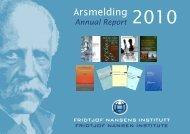 Årsmelding 2010 - Fridtjof Nansens Institutt