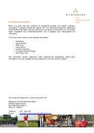 Activiteiten en workshops (PDF) - Bilderberg