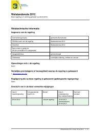 Welstandsnota 2012 - Regelingenbank gemeente Bunschoten
