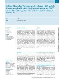 Einfluss Manueller Therapie an der oberen HWS auf die ...