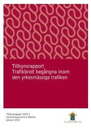 Tillsynsrapport 2013 1.pdf - Åklagarmyndigheten