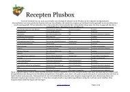 Recepten Plusbox - Streekbox