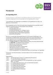 Persbericht Appeldag 2013 - DLV Plant