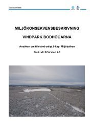 Bilaga C Miljökonsekvensbeskrivning - Vindkraft Norr
