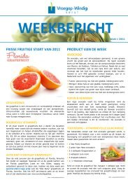 FRISSE FRUITIGE START VAN 2011 PRODUCT ... - Vroegop-Windig