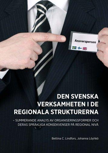 den svenska verksamheten i de regionala strukturerna - Kunnat.net