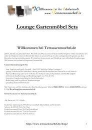 Lounge Gartenmöbel Sets