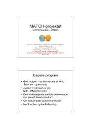 MATCH-projektet - Center for Konfliktløsning
