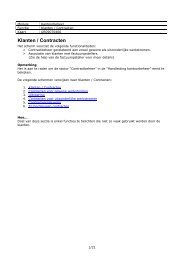 Klanten / Contracten - Kluwer software