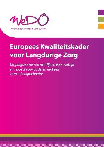 Europees Kwaliteitskader voor Langdurige Zorg - Belgian Ageing ...