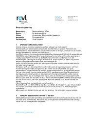 verslag platform 28 september 2011 - Rovl
