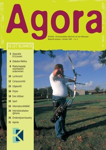 Agora okt 2002(ilse) - Katholieke Hogeschool Kempen
