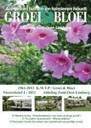 Nieuwsbrief 2012 nr. 4 - Zuid-Oost Limburg - Groei & Bloei