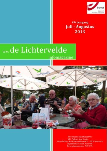 Editie juli - augustus 2013 - WZC de Lichtervelde