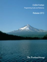 CUDA Fortran Programming Guide and Reference - The Portland ...